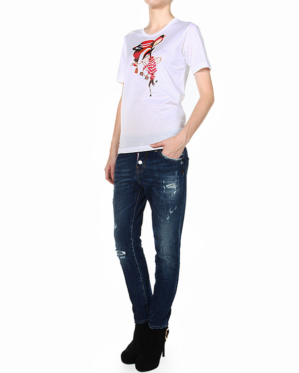 женская футболка DSQUARED, сезон: зима 2014/15. Купить за 8600 руб. | Фото 3