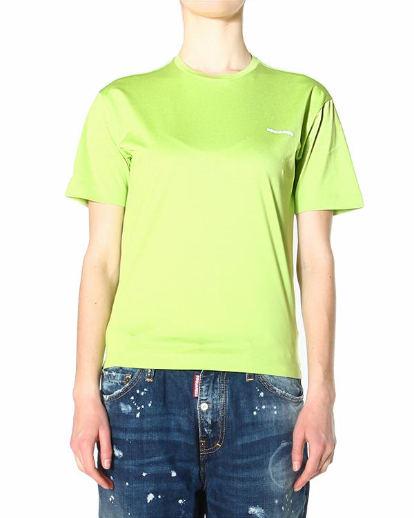 футболка прямого кроя с коротким рукавом и круглым вырезом горловины артикул S75GC0695 марки DSQUARED2 купить за 5500 руб.