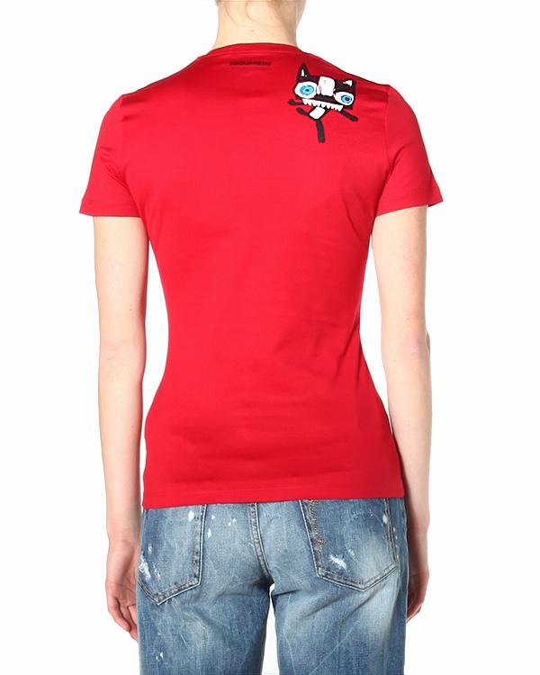 женская футболка DSQUARED, сезон: лето 2015. Купить за 6600 руб. | Фото 2