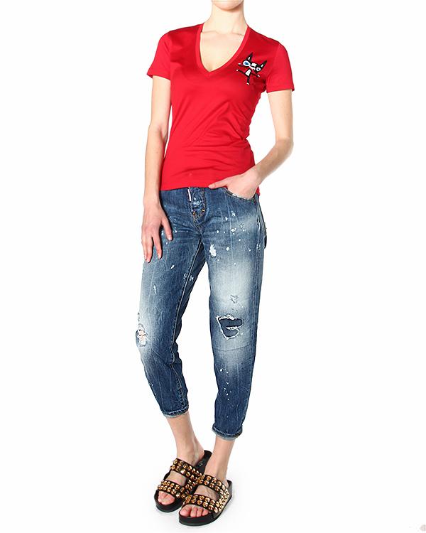 женская футболка DSQUARED, сезон: лето 2015. Купить за 6600 руб. | Фото 3
