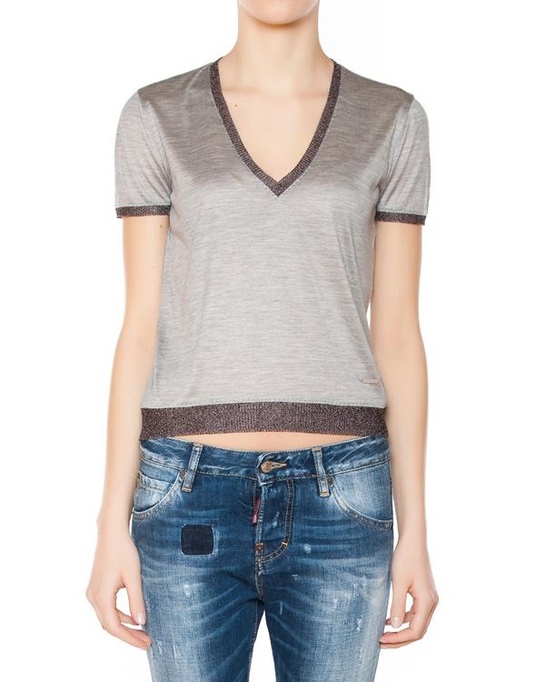 женская футболка DSQUARED, сезон: лето 2015. Купить за 16500 руб. | Фото 1