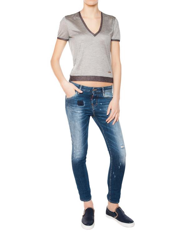 женская футболка DSQUARED, сезон: лето 2015. Купить за 16500 руб. | Фото 3