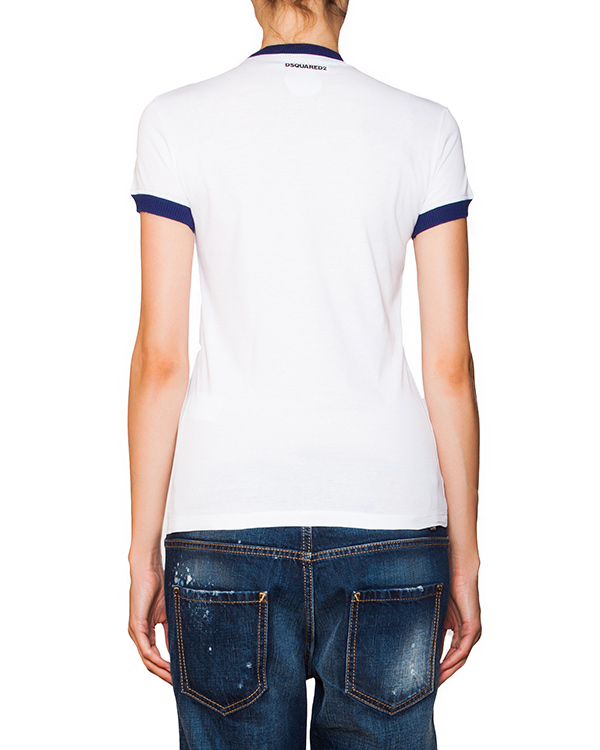 женская футболка DSQUARED, сезон: зима 2015/16. Купить за 6500 руб. | Фото 2