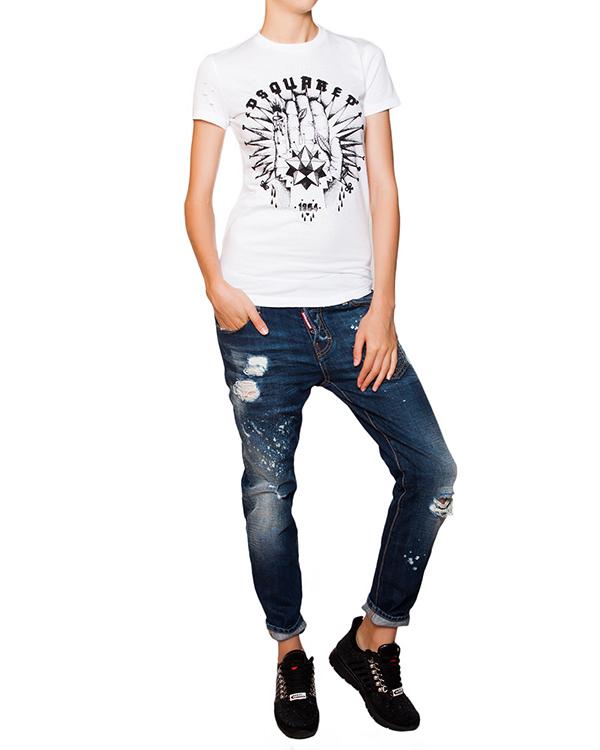 женская футболка DSQUARED, сезон: зима 2015/16. Купить за 6500 руб. | Фото 3