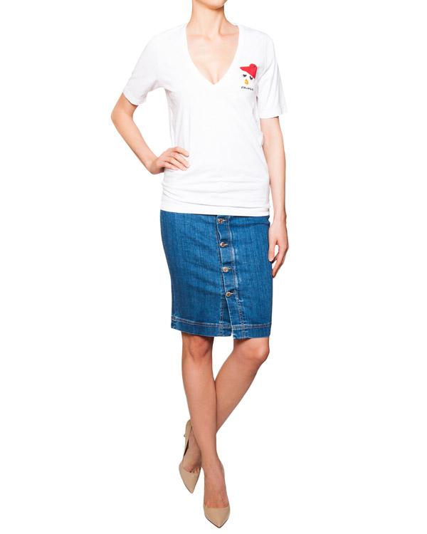 женская футболка DSQUARED, сезон: лето 2016. Купить за 5300 руб. | Фото 3