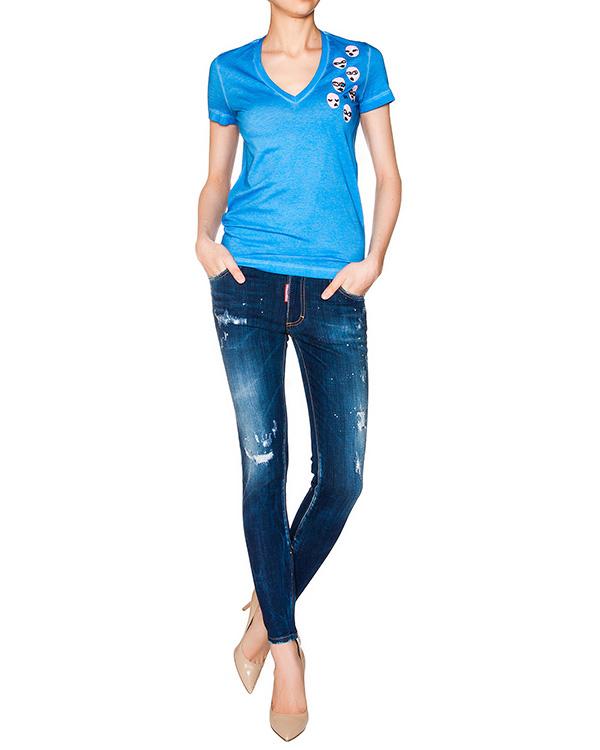 женская футболка DSQUARED, сезон: лето 2016. Купить за 7300 руб. | Фото 3