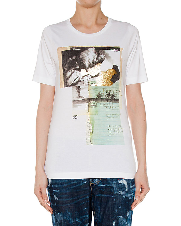 футболка  артикул S75GC0836 марки DSQUARED купить за 10400 руб.