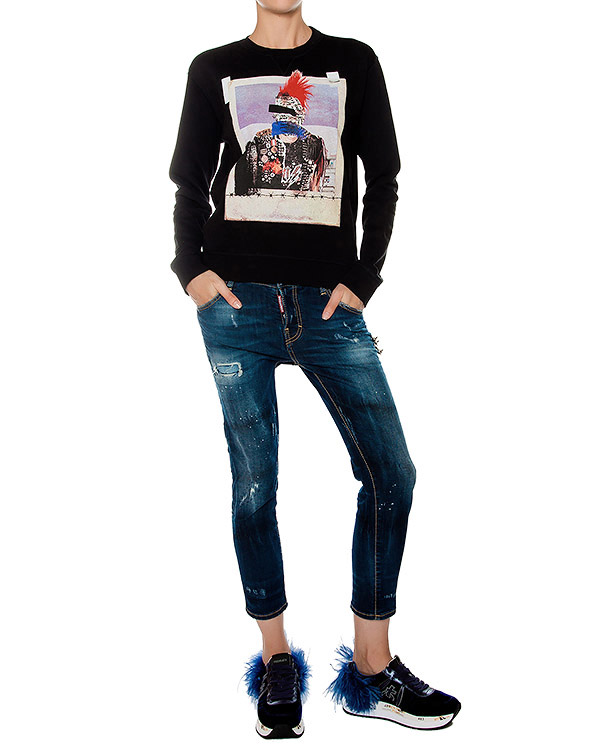 женская свитшот DSQUARED, сезон: зима 2016/17. Купить за 15400 руб. | Фото 3