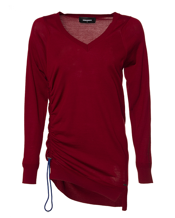 пуловер удлиненного силуэта из трикотажной шерсти  артикул S75HA0696 марки DSQUARED2 купить за 35500 руб.