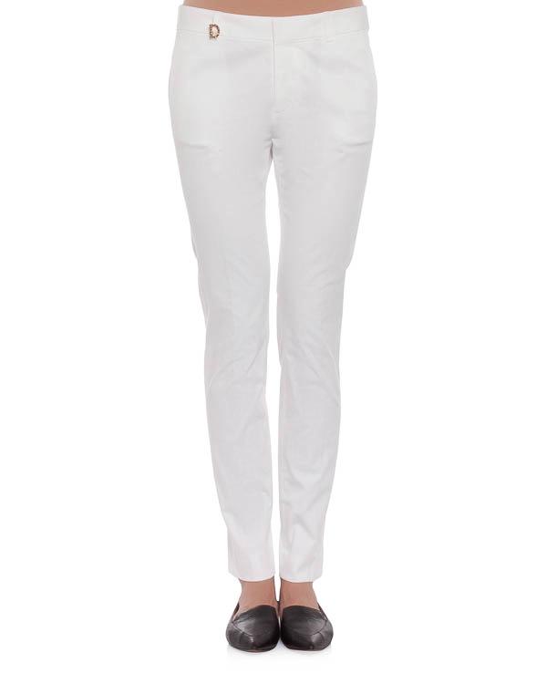 брюки из твила зауженного кроя с контрастной аппликацией логотипа артикул S75KA0536 марки DSQUARED купить за 13200 руб.