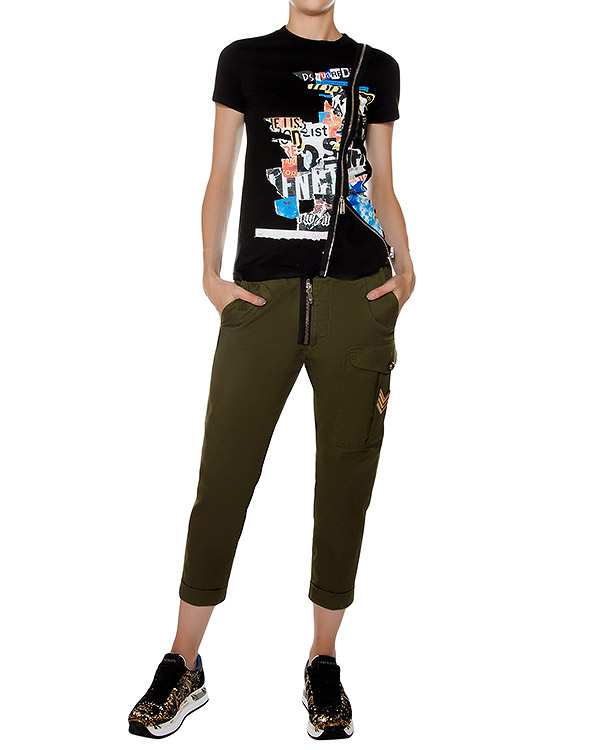 женская брюки DSQUARED, сезон: зима 2016/17. Купить за 24200 руб. | Фото 3