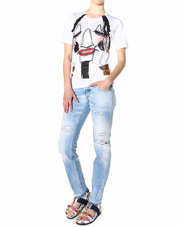 женская джинсы DSQUARED, сезон: лето 2015. Купить за 15400 руб. | Фото 3