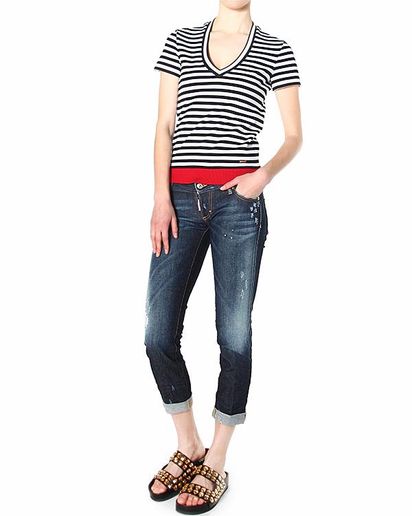 женская джинсы DSQUARED, сезон: лето 2015. Купить за 19800 руб. | Фото 3