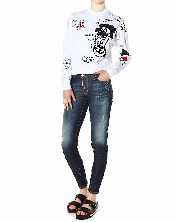 женская джинсы DSQUARED, сезон: лето 2015. Купить за 20900 руб. | Фото 3