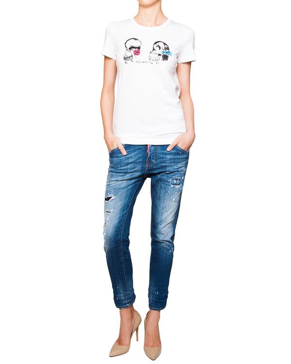 женская джинсы DSQUARED, сезон: лето 2016. Купить за 21300 руб. | Фото 3