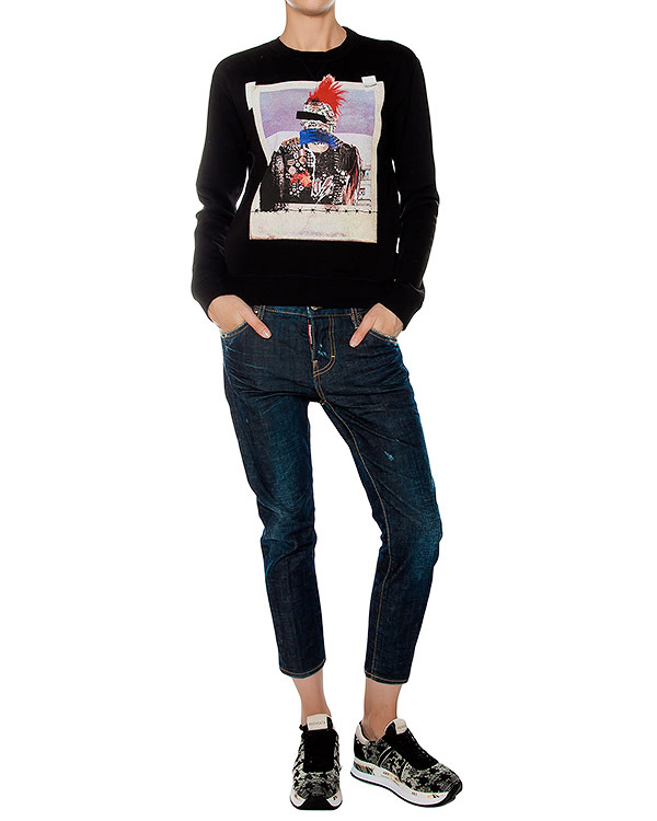 женская джинсы DSQUARED2, сезон: зима 2016/17. Купить за 18500 руб. | Фото $i