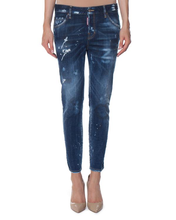 джинсы Jennifer с декоративными потертостями артикул S75LA0914 марки DSQUARED2 купить за 33700 руб.