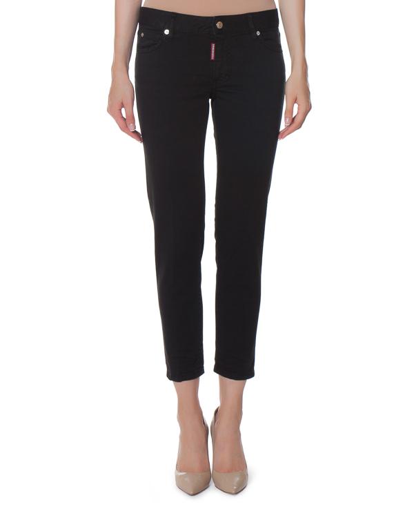 джинсы Slim CROPPED TWIGGY из плотного денима артикул S75LA0921 марки DSQUARED2 купить за 23800 руб.
