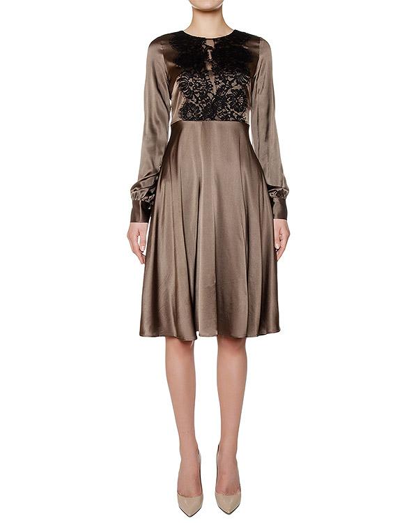 платье из шелка, дополнено кружевом артикул SILSIX721043 марки P.A.R.O.S.H. купить за 24000 руб.