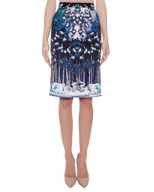 юбка из тонкого неопрена с 3D рисунком артикул SK207 марки RARY купить за 9200 руб.