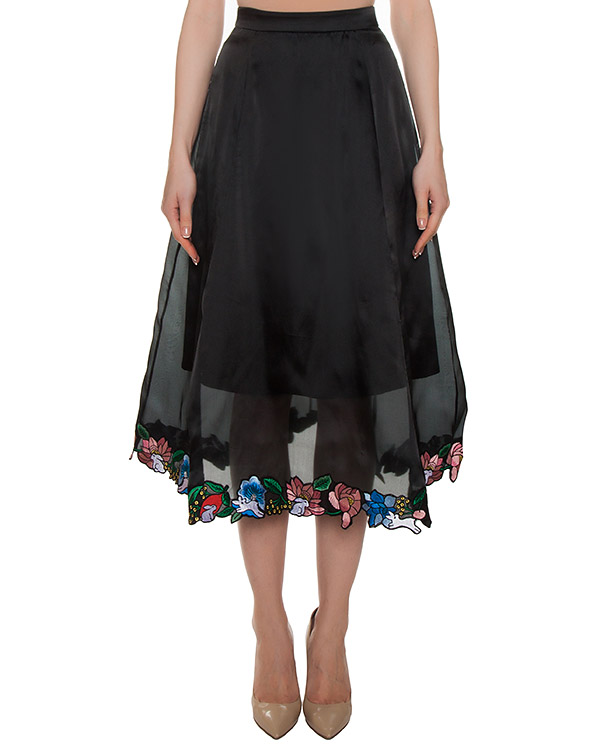 юбка из шелка с вышивкой артикул SK300 марки Markus Lupfer купить за 20800 руб.