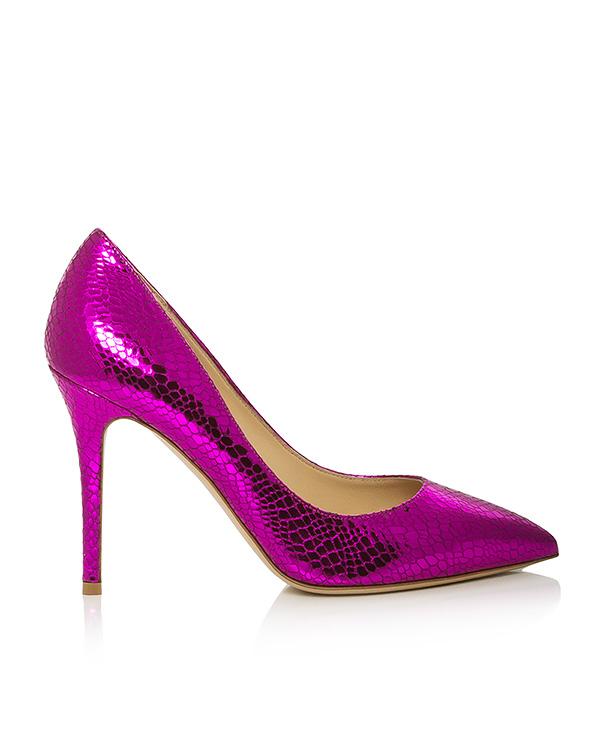 туфли из натуральной кожи с тиснением под рептилию артикул SM0098-CPL марки Semilla купить за 15300 руб.