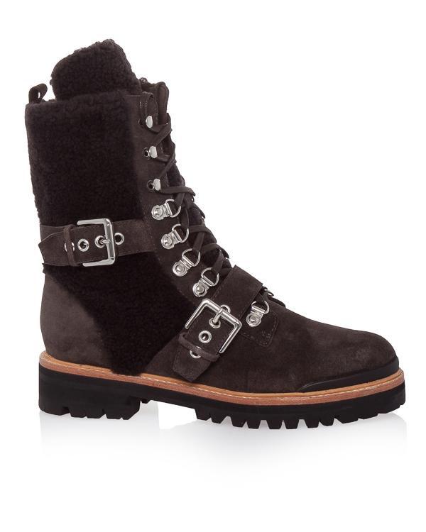 ботинки из кожи с отделкой мехом артикул SMIRIS марки Sigerson Morrison купить за 35200 руб.