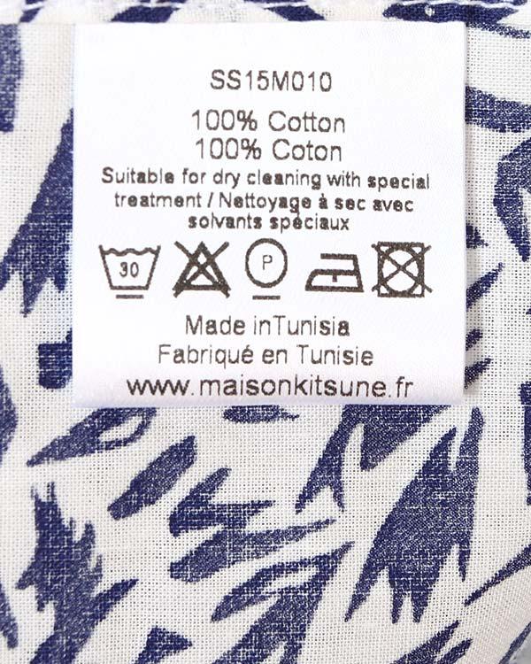 мужская рубашка Maison Kitsune, сезон: лето 2015. Купить за 7300 руб. | Фото 5