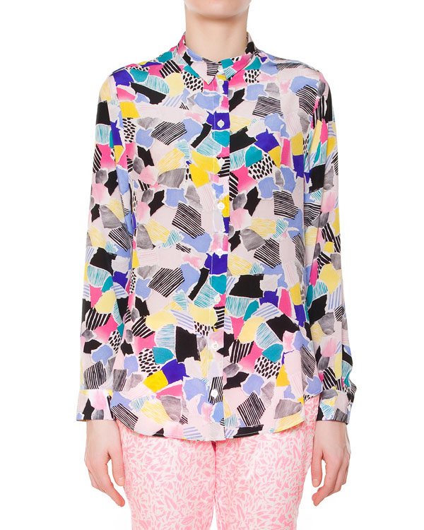 женская рубашка Maison Kitsune, сезон: лето 2015. Купить за 11500 руб. | Фото 1