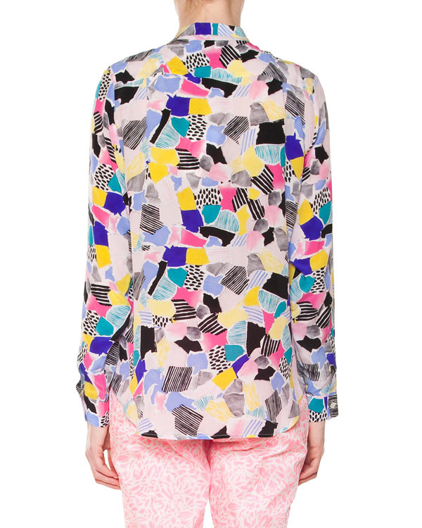 женская рубашка Maison Kitsune, сезон: лето 2015. Купить за 11500 руб. | Фото 2