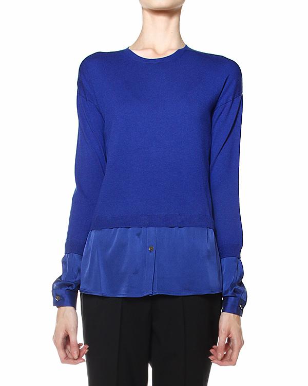 джемпер с имитацией поддетой шелковой рубашки артикул STELLINE510511 марки P.A.R.O.S.H. купить за 7200 руб.