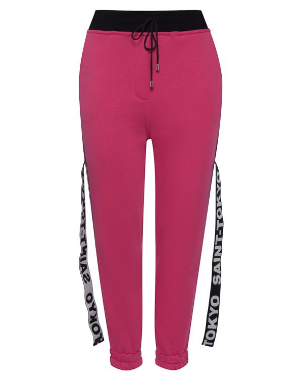 брюки из хлопка в стиле спорт-шик  артикул STFW1718LOKY-P марки Saint-Tokyo купить за 15000 руб.