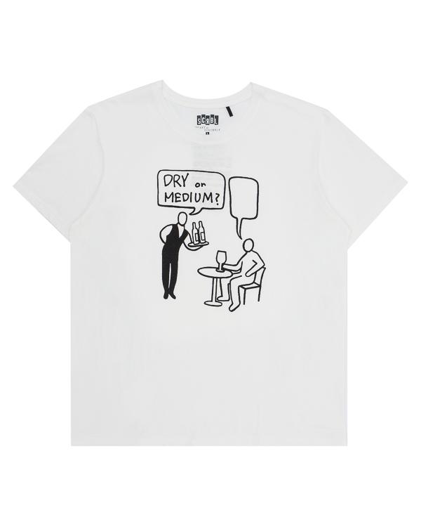 футболка из хлопка с арт-принтом  артикул T17F28 марки The ART of SCRIBBLE купить за 3300 руб.
