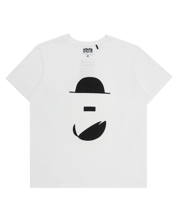 футболка из хлопка с арт-принтом  артикул T17F31 марки The ART of SCRIBBLE купить за 3300 руб.