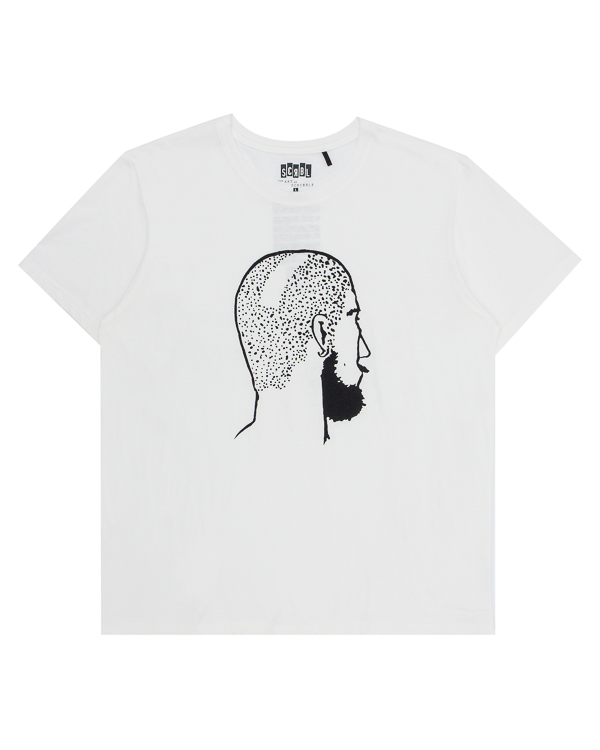 футболка из хлопка с арт-принтом  артикул T17F35 марки The ART of SCRIBBLE купить за 3300 руб.