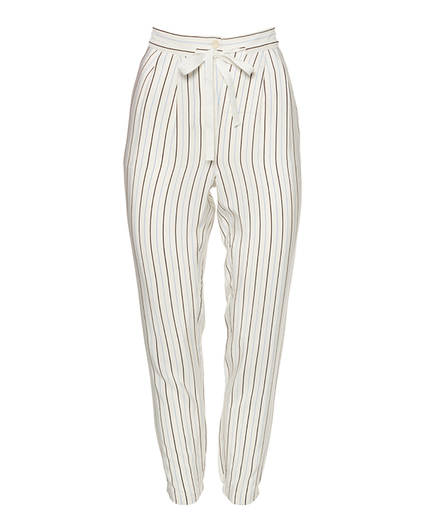 брюки из шелка в тонкую полоску артикул TBSPWS3126 марки TIBI купить за 13300 руб.