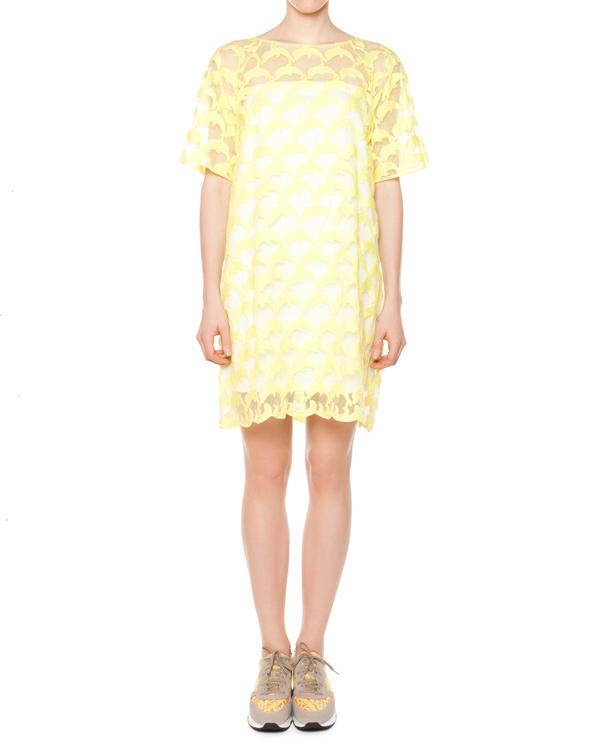 платье полупрозрачное с вышивкой артикул TC57FH072 марки Tsumori Chisato купить за 22900 руб.