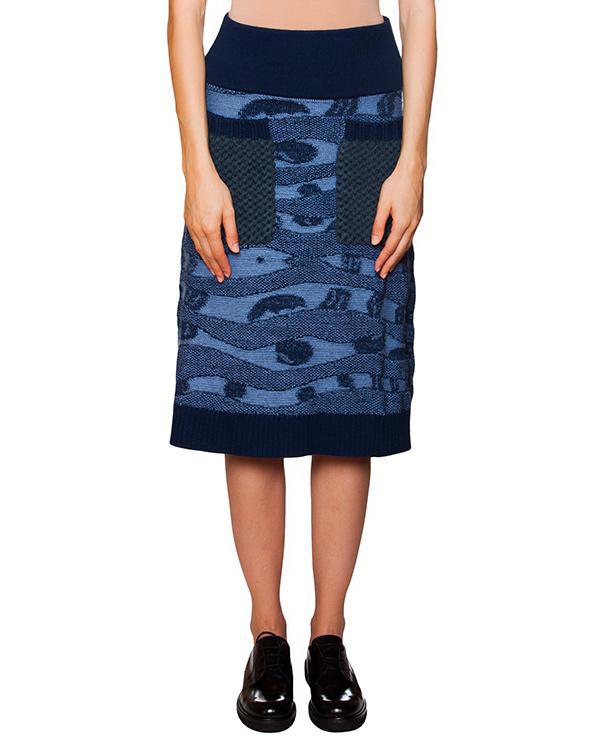 юбка с фактурным вязаным узором и карманами артикул TC59KG028 марки Tsumori Chisato купить за 14900 руб.