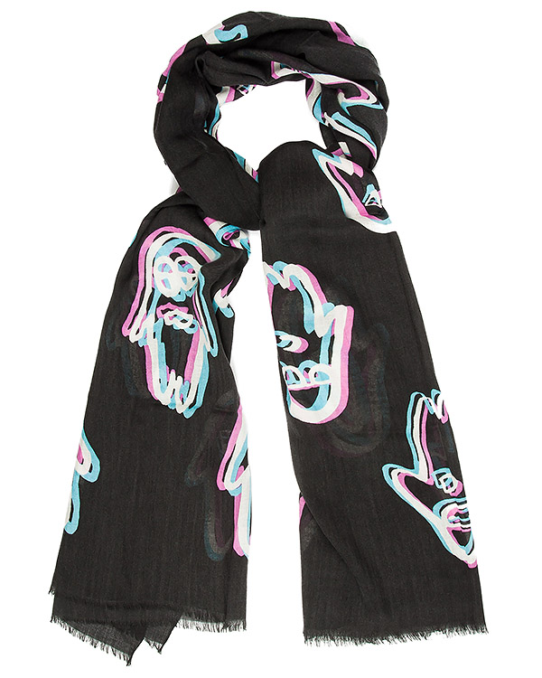 шарф из тонкой шерсти и шелка с принтом артикул TC69AD015 марки Tsumori Chisato купить за 18200 руб.