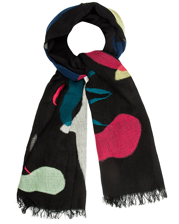 шарф из тонкого льна и шерсти с рисунками артикул TC69AD020 марки Tsumori Chisato купить за 21700 руб.