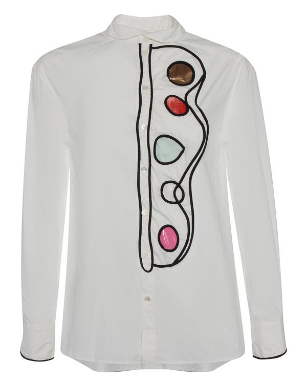 рубашка из хлопка с фигурной арт-отделкой артикул TC79FJ017 марки Tsumori Chisato купить за 33400 руб.