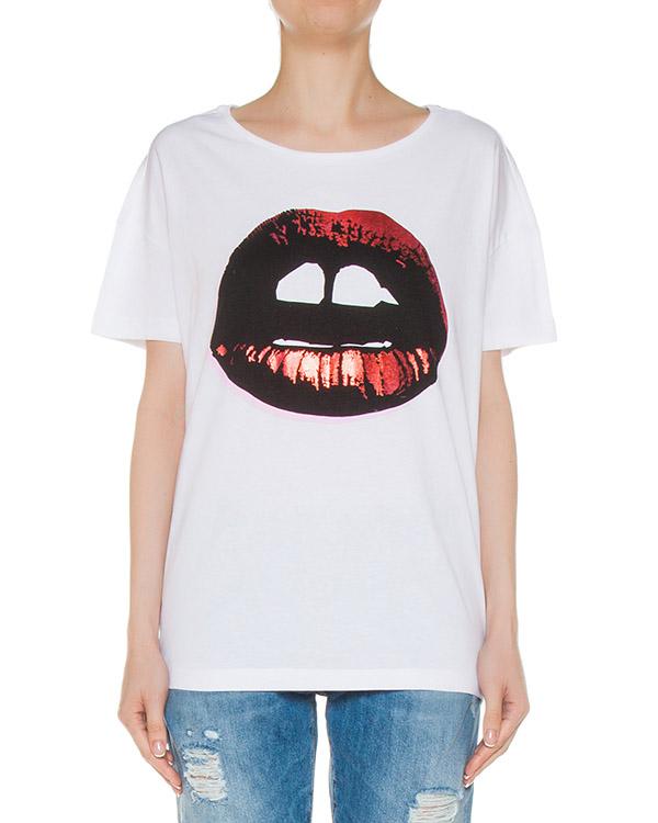 футболка из трикотажа с принтом артикул TP1015 марки Markus Lupfer купить за 6800 руб.