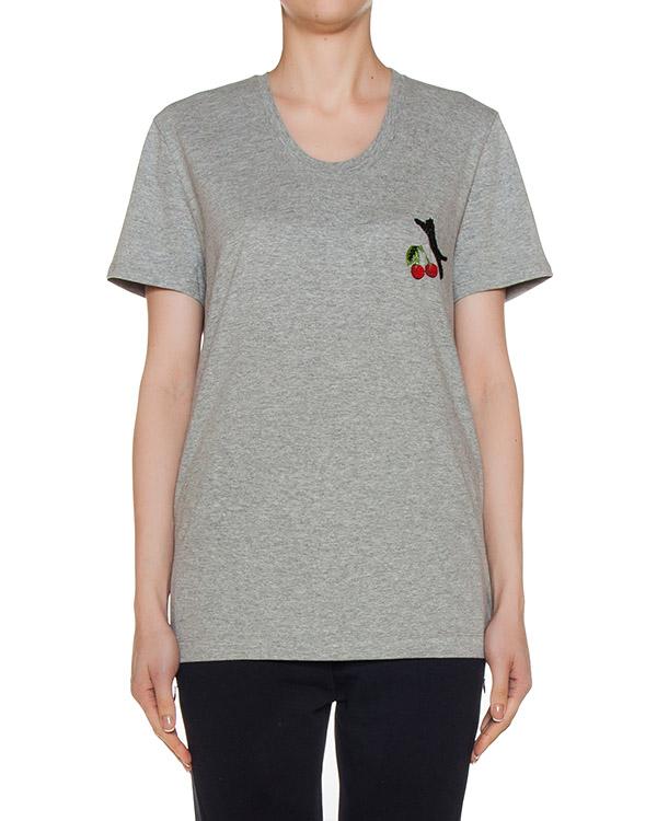 футболка из трикотажа с вышивкой артикул TP1050 марки Markus Lupfer купить за 5400 руб.