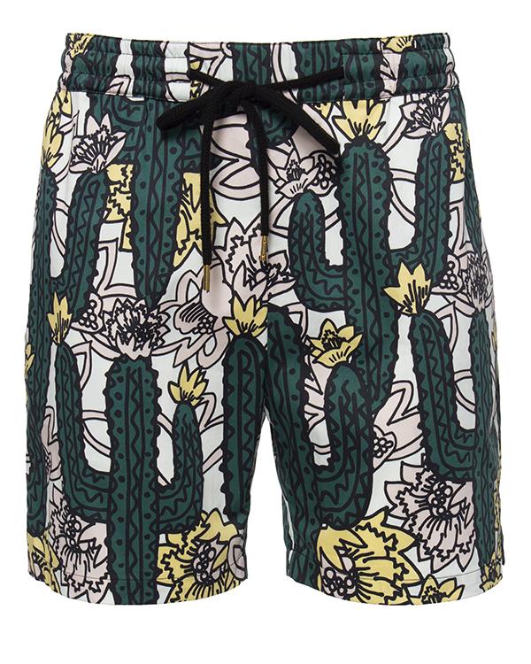 шорты из плотного хлопка с принтом в виде кактусов артикул TP369 марки Markus Lupfer купить за 12500 руб.