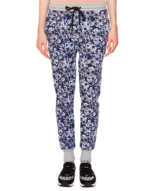 брюки из трикотажа с цветочным принтом артикул TR0322 марки Markus Lupfer купить за 7000 руб.