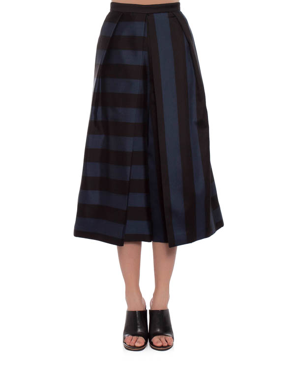юбка-брюки сложного скульптурного кроя, с эффектным пересечением полос на ткани артикул TRE14ESG33249 марки TIBI купить за 64800 руб.
