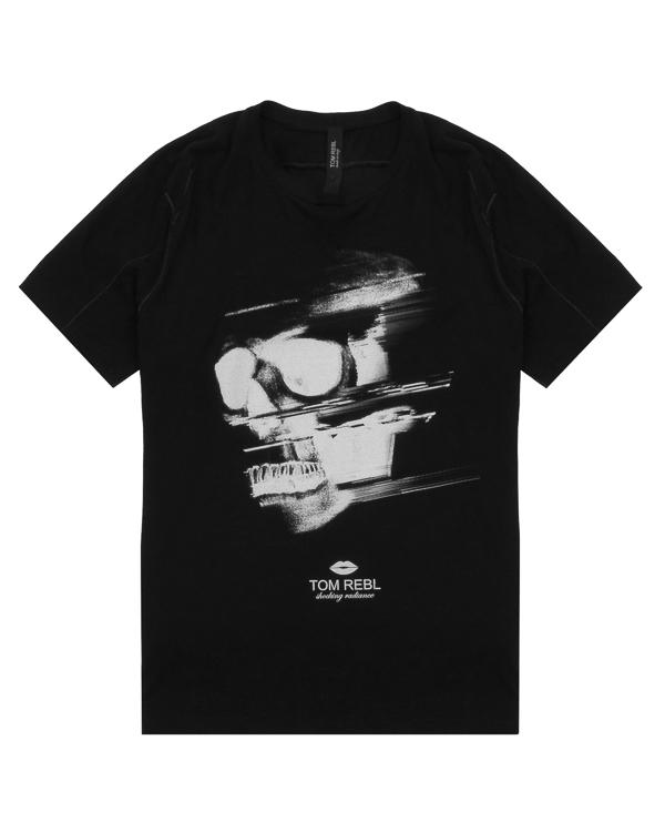 футболка из хлопка с принтом-портрет артикул TU0610-2483S36 марки TOM REBL купить за 9900 руб.
