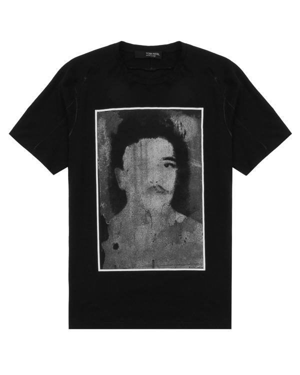 футболка из хлопка с принтом  артикул TU0610-2483S38 марки TOM REBL купить за 8700 руб.