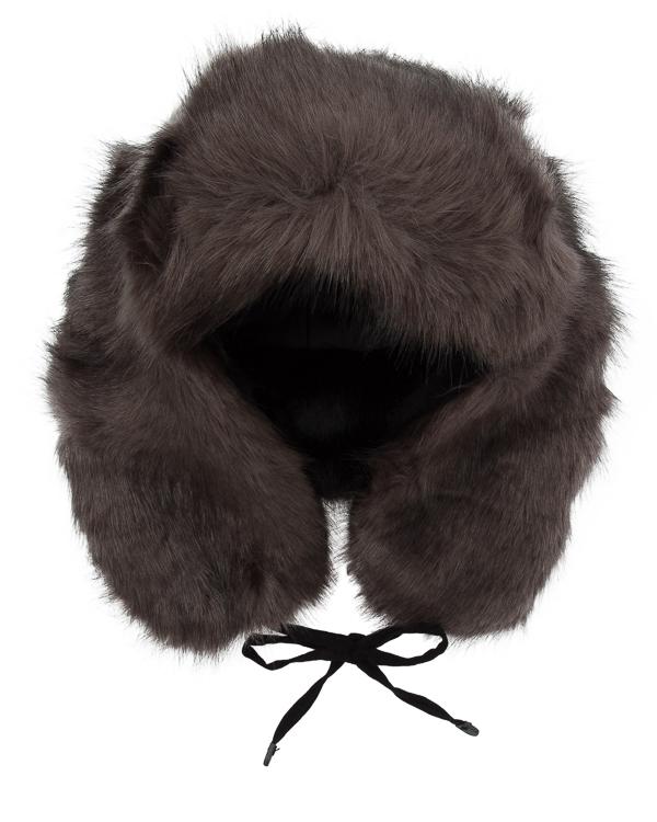 шапка ушанка из крашеного декоративного меха артикул UC4641 марки Urbancode купить за 5500 руб.