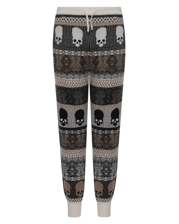 брюки спортивного кроя из шерсти артикул UCJQ08PANCB марки Gemma H купить за 18800 руб.